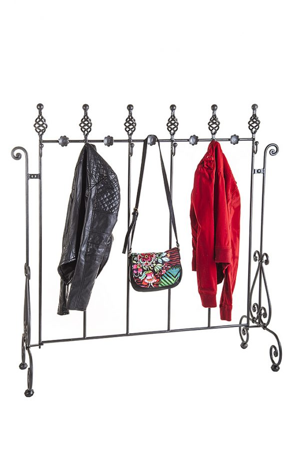 wrought iron coat rack appendiabiti in ferro battuto