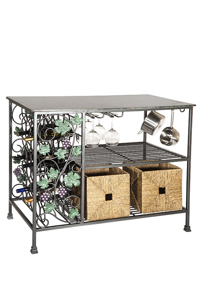 Kitchen Island With Leaves & Grapes With Large Top – Isola da ...