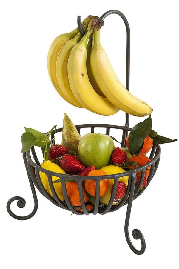 wrought iron fruit basket cestino per la frutta in ferro battuto