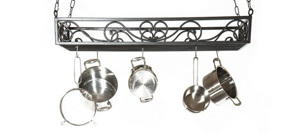 wrought iron pot rack portapentole in ferro battuto