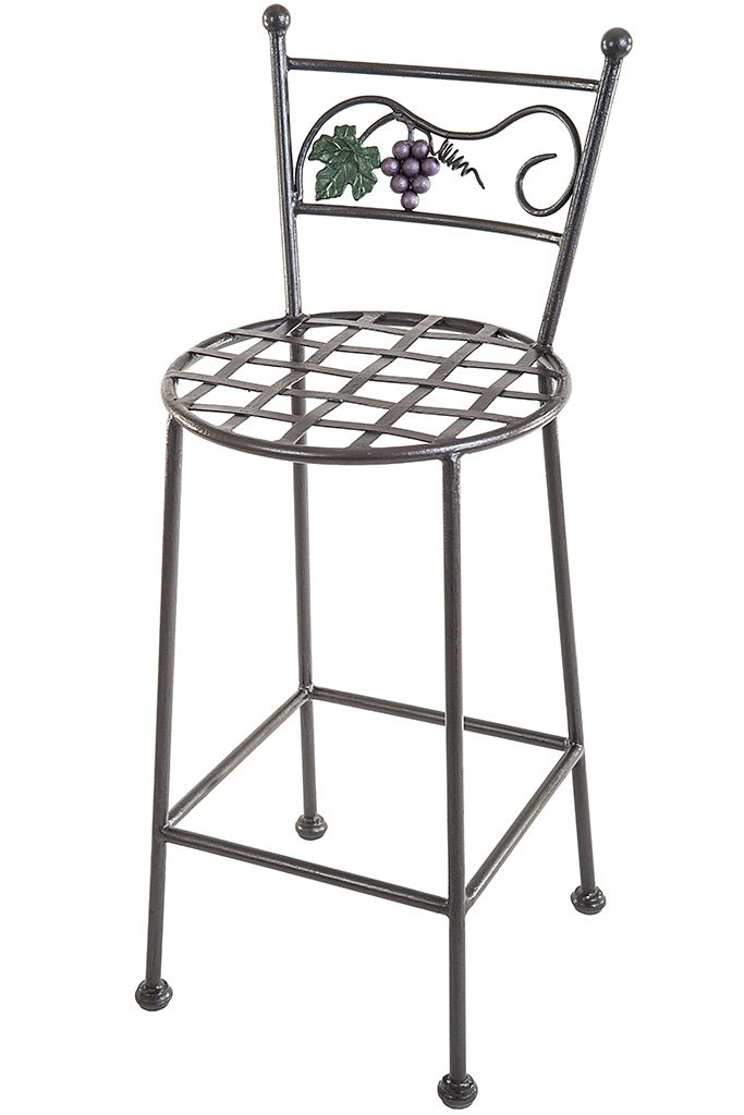 Wrought Iron Stool - sgabello in ferro battuto