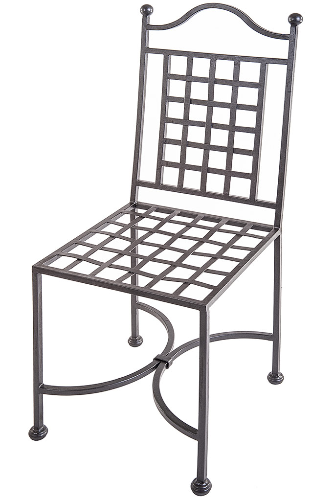Wrought Iron Chair With Regular Sqare back – Sedia in Ferro Battuto ...