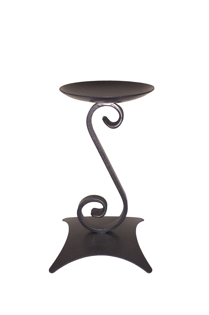wrought iron candle holder portacandele in ferro battuto